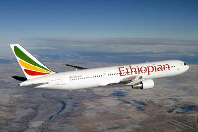 Boeing 737 společnosti Ethiopian airlines