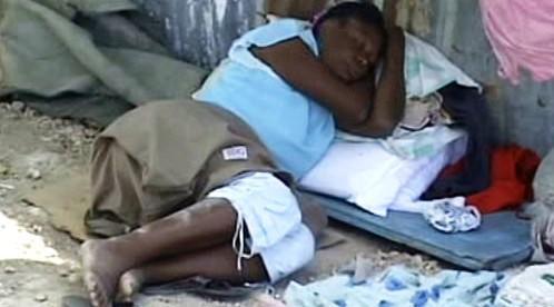 Poničené Haiti