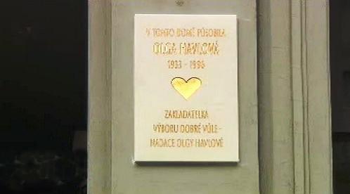 Pamětní deska Olze Havlové