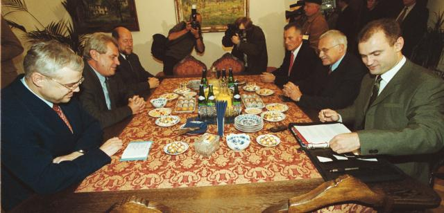 Podpis opoziční dohody