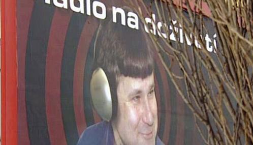 Jiří Kajínek v reklamě na rádio