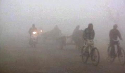 Indie je zahalena mlhou
