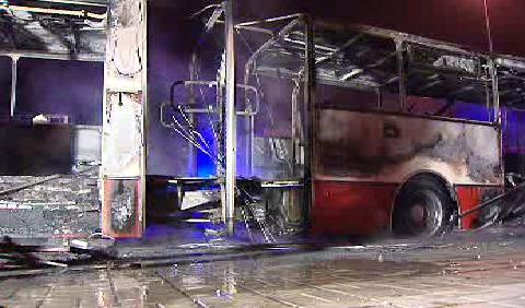 Zhořelý autobus