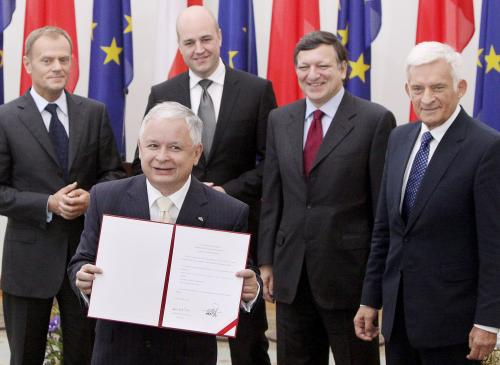 Lech Kaczyński s evropskými politiky