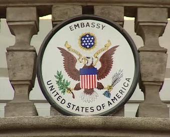 Logo amerického velvyslanectví