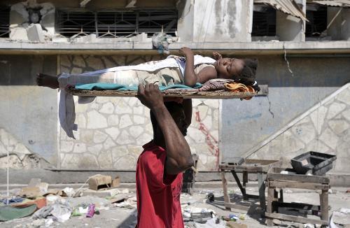 Oběti zemětřesení na Haiti