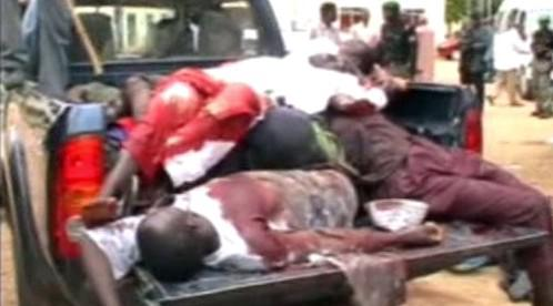 Oběti bojů v Nigérii