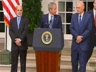 Ben Bernanke, George Bush a Henry Paulson
