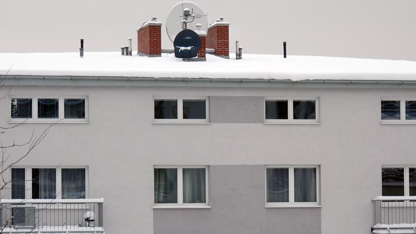 Sníh na střeše