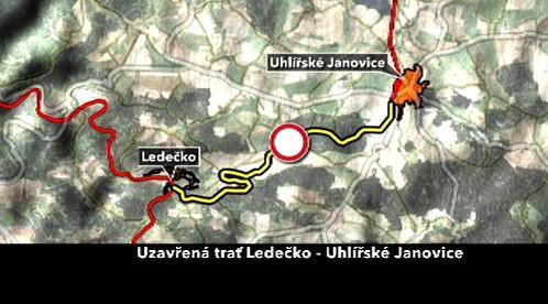 Uzavírka na trati Ledečko - Uhlířské Janovice
