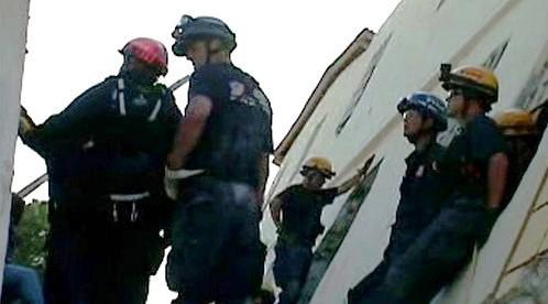 Záchranné práce na Haiti
