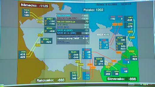 Monitorovací mapa OTE