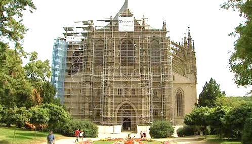 Rekonstrukce chrámu svaté Barbory v Kutné Hoře