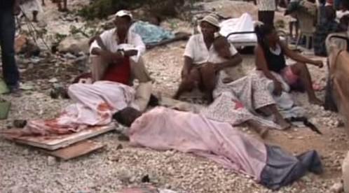Haiťané postižení zemětřesením