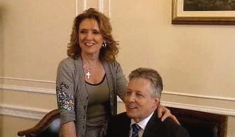 Peter Robinson s manželkou Iris
