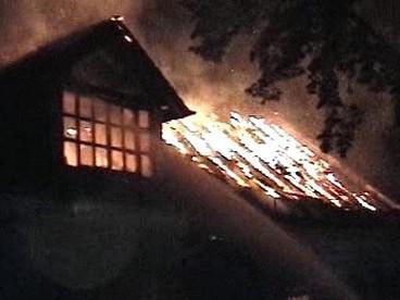 Požár domu