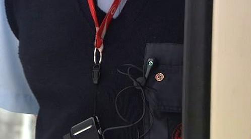 Odznak DS na svetru Aleše Červenky
