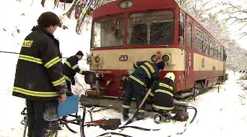 Hasiči u nehody vlaku