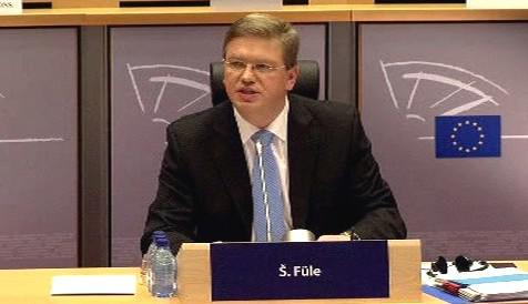 Štefan Füle při \