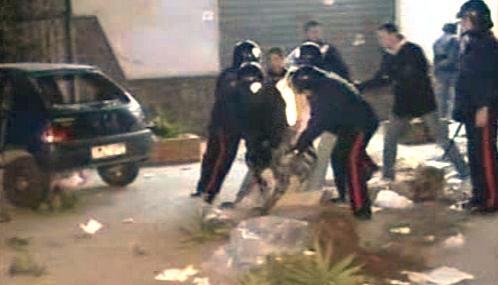 Zásah italské policie proti přistěhovalcům