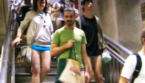Jízda bez kalhot v New Yorku
