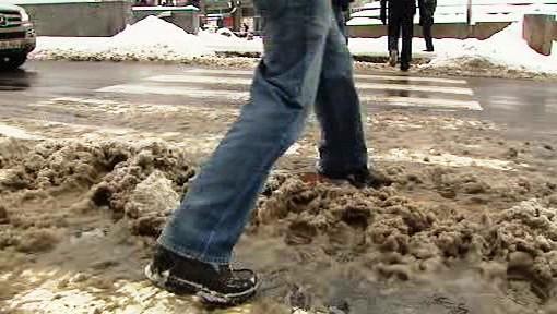 Sníh v ulicích