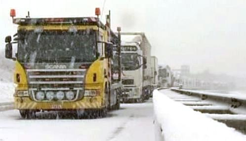 Sněhová kalamita v Evropě