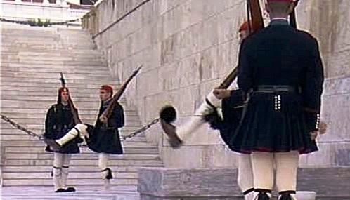 Čestná stráž u řeckého parlamentu