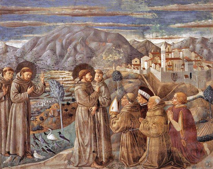 Benozzo Gozzoli-freska ze života sv. Františka (1452)