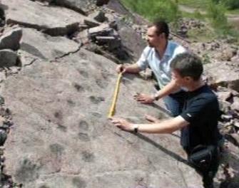 Zkamenělé stopy zvířat