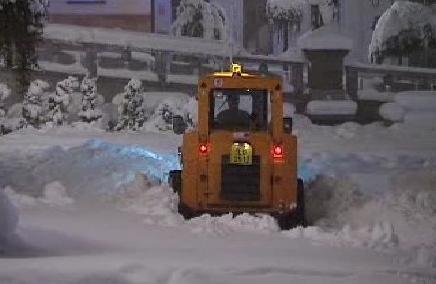 Odklízení sněhové nadílky