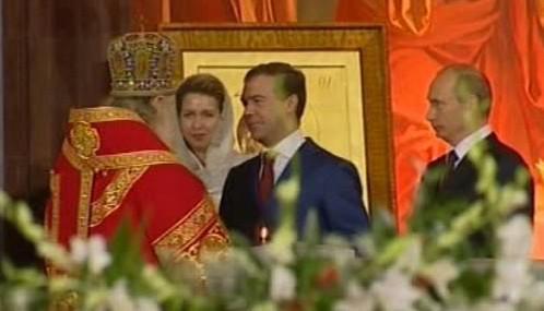 Kirill, Medveděv a Putin