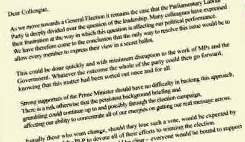 Dopis bývalých labouristických ministrů