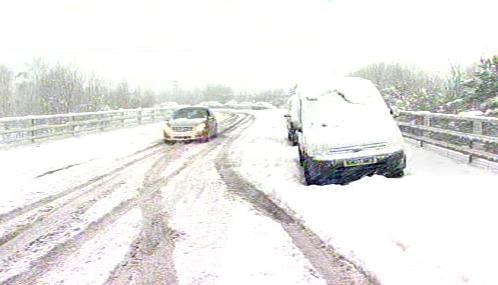 Sněhová kalamita v Británii