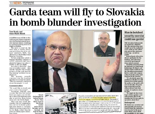 Irish Independent o popradském skandálu