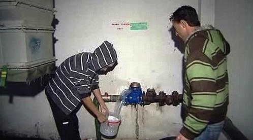 Zdroj pitné vody v ubytovně Kovák