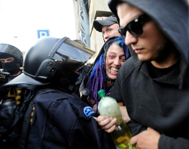Zatčení squatteři