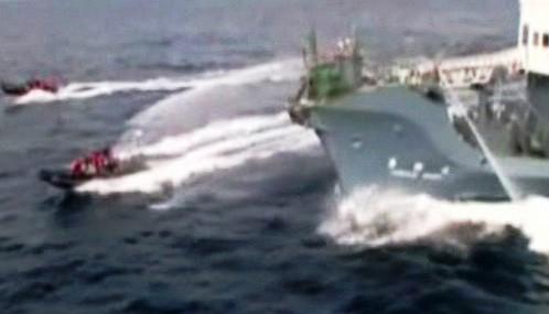 Střet aktivistů s velrybáři