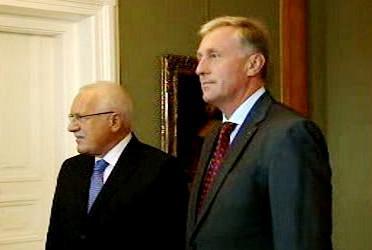 Václav Klaus a Mirek Topolánek