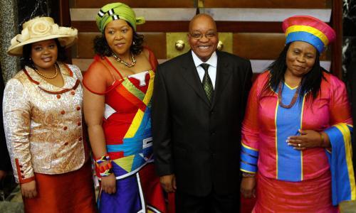 Jihoafrický prezident se svými třemi manželkami