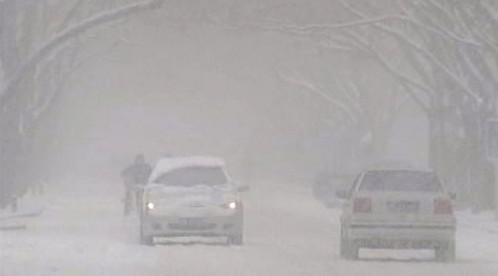 Sněhová bouře v Číně