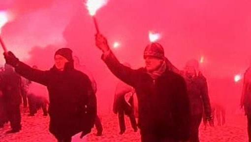 Protestující Islanďané