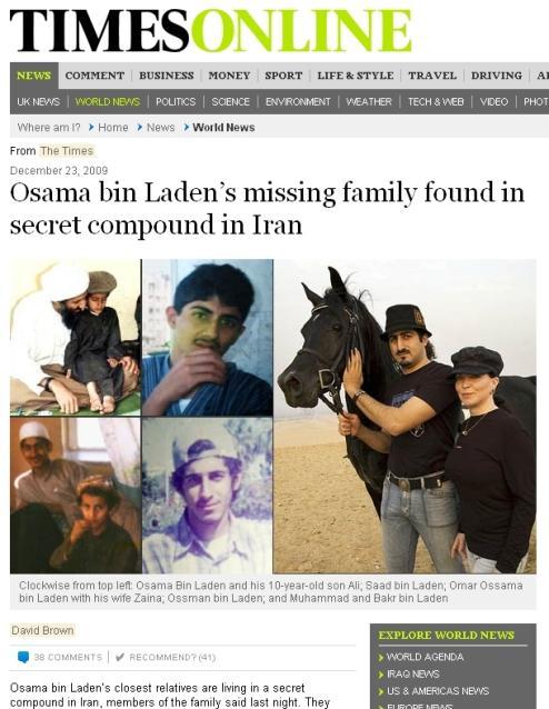 The Times o bin Ládinových příbuzných