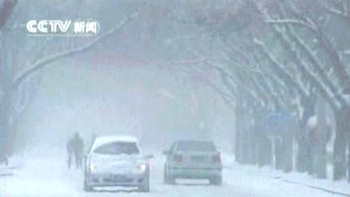 Sněhová kalamita v Pekingu
