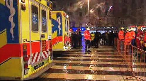 Záchranáři na Václavském náměstí