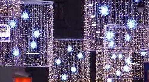 Světelná výzdoba ulic Vídně