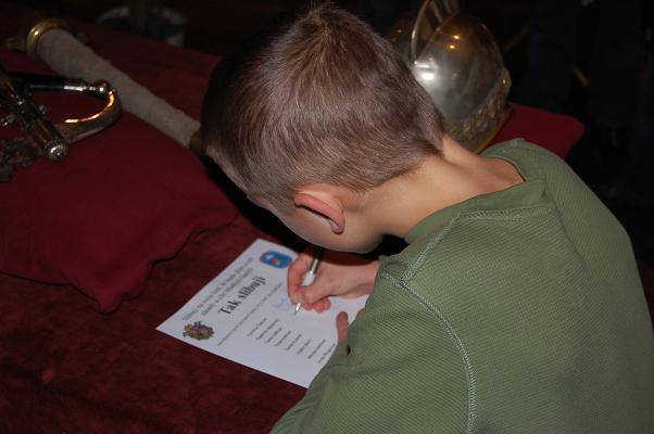 Slavnostní slib Mladých hasičů Běloves