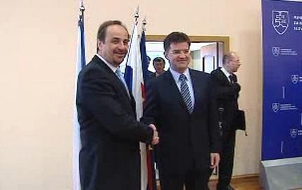 Jan Kohout a Miroslav Lajčák