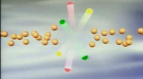 Srážka částic - simulace