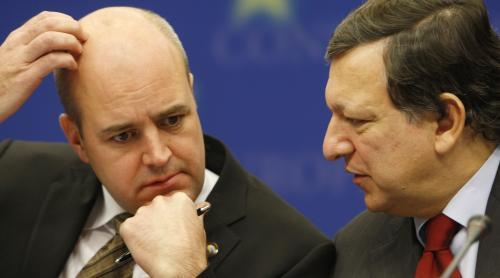 Fredrik Reinfeldt a José Manuel Barroso